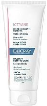 Düfte, Parfümerie und Kosmetik Pflegende Creme für Gesicht und Körper für sehr trockene Haut - Ducray Ictyane Emollient Nutritive Anti-Dryness Face & Body Cream