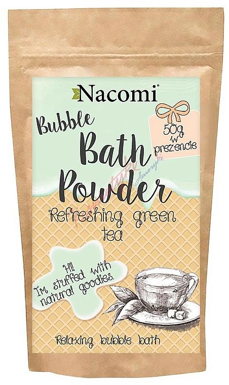 Erfrischendes Badepulver mit grünem Tee - Nacomi Refreshing Green Tea Bath Powder
