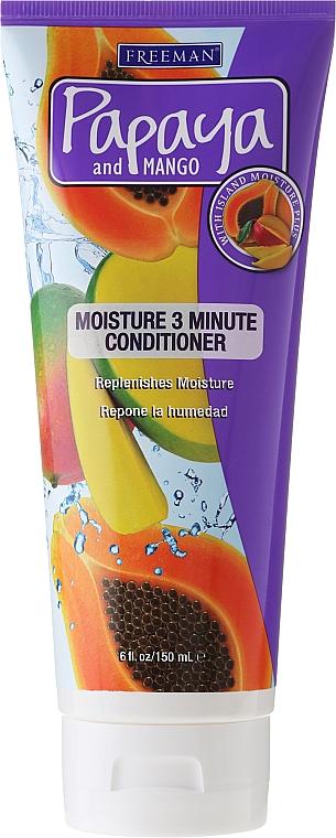Feuchtigkeitsspendender Haarbalsam - Freeman Papaya and Mango Moisture 3 Minute Conditioner — Bild N1