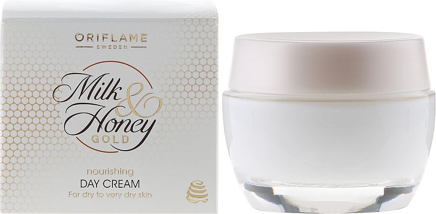 Pflegende Tagescreme mit Milch und Honig für trockene und sehr trockene Haut - Oriflame Milk & Honey Gold Day Cream — Bild N1