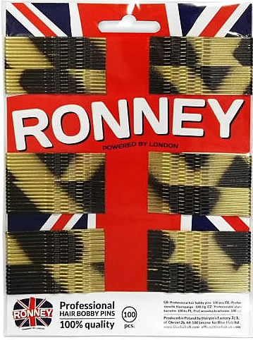 Haarklemmen 60 mm 100 St. - Ronney Golden-Black Hair Bobby Pins