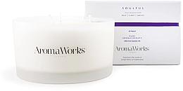 Düfte, Parfümerie und Kosmetik Soja-Duftkerze im Glas mit 3 Dochten, Wacholderbeer- und Weihrauchduft - AromaWorks Soulful Candle 3-wick