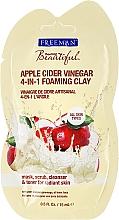 Düfte, Parfümerie und Kosmetik Gesichtsreinigunsmaske mit Tonerde und Apfelessig - Freeman Feeling Beautiful 4-in-1 Apple Cider Vinegar Foaming Clay (Beutel)
