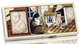 Düfte, Parfümerie und Kosmetik Naturseifen-Geschenkset - Saponificio Artigianale Floral Bouquet Scented Soap (Seife in Katzenform 3St. x125g)