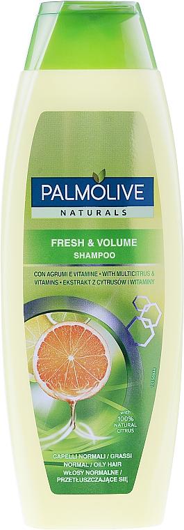 """Erfrischendes Volumenshampoo für normales und fettiges Haar """"Zitrusfrüchteund Vitamine"""" - Palmolive Naturals Fresh & Volume Shampoo"""
