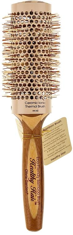 Klimafreundliche runde Bambusbürste d.43 - Olivia Garden Healthy Hair Eco-Friendly Bamboo Brush