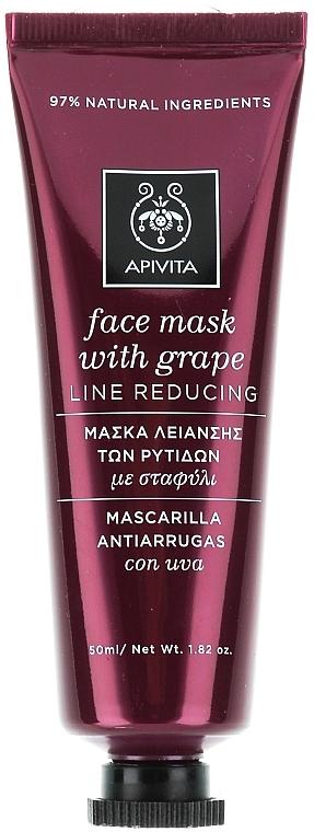 Anti-Falten Gesichtsmaske mit Trauben - Apivita Moisturizing Face Mask With Grape