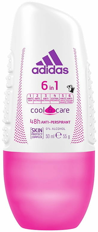 Deo Roll-on Antitranspirant - Adidas Anti-Perspirant 6 in 1 Cool&Care 48h
