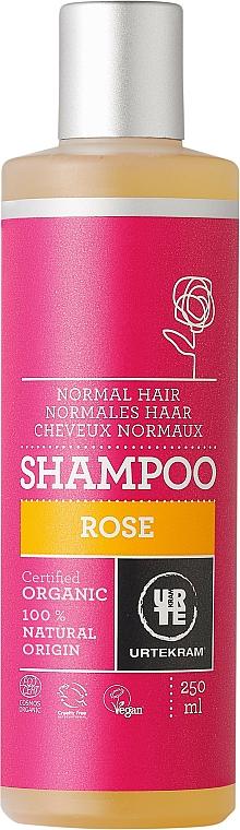 Feuchtigkeitsspendendes Shampoo für normales Haar mit Rosenextrakt - Urtekram Rose Shampoo Normal Hair