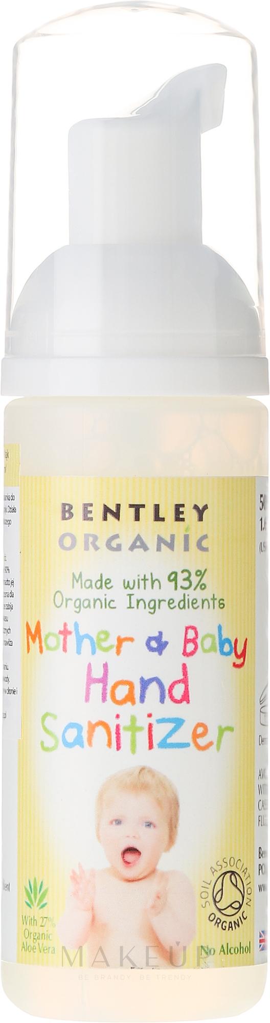 Antibakterieller Handschaum für Mütter und Babys - Bentley Organic Mother & Baby Hand Sanitizer — Bild 50 ml