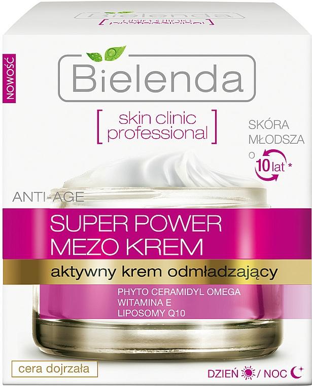 Aktiv verjüngende Gesichtscreme für Tag und Nacht mit Vitamin E und Liposomen - Bielenda Skin Clinic Professional Mezo Anti-age