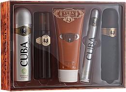 Düfte, Parfümerie und Kosmetik Cuba Gold - Duftset (Eau de Toilette 100ml+Deospray 200ml+After Shave Balsam 100ml+Duschgel 200ml+Eau de Toilette 35ml)