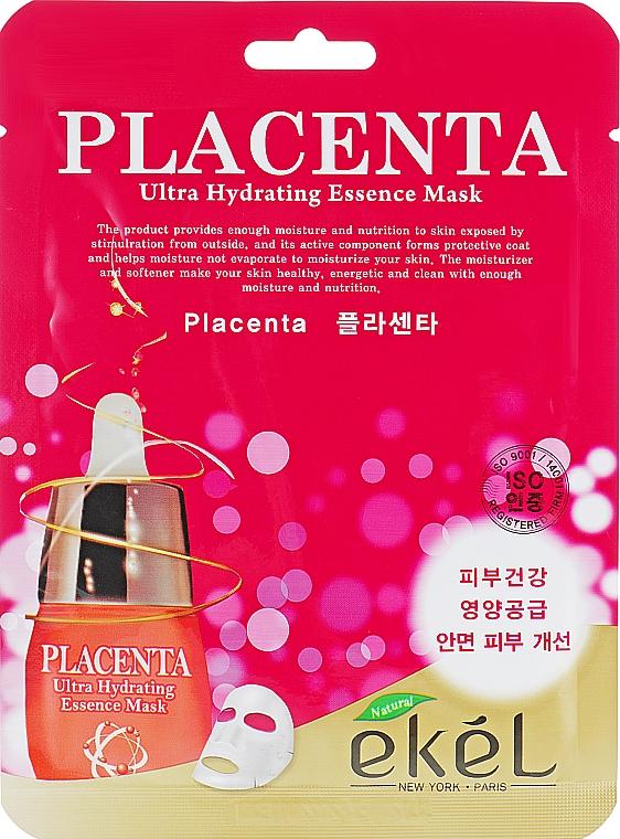 Anti-Aging Tuchmaske für das Gesicht mit Plazenta - Ekel Placenta Ultra Hydrating Essence Mask