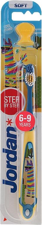 Kinderzahnbürste 3-9 Jahre weich Step by Step Lama gelb-blau - Jordan — Bild N1