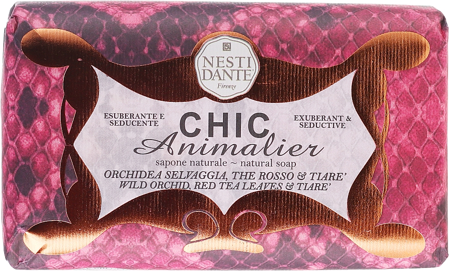 Naturseife Red Python - Nesti Dante Vegetable Soap Wild Orchid, Red Tea & Tiarè Chic Animalier Collection