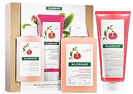 Düfte, Parfümerie und Kosmetik Haarpflegeset - Klorane Pomegranate (Shampoo 200ml + Conditioner 200ml)