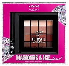 Düfte, Parfümerie und Kosmetik Make-up Set (Lidschattenpalette 12x1.18g + Eyeliner 2ml) - NYX Professional Makeup Diamonds & Ice Please Shadow & Liner Set