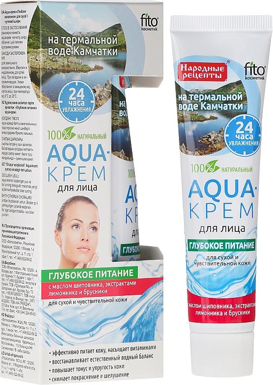 Aqua-Creme für das Gesicht mit Thermalwasser aus Kamtschatka für trockene und empfindliche Haut - Fito Kosmetik