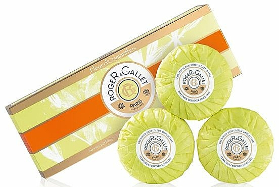 Seifenset mit Osmanthusblüten - Roger & Gallet Fleur D'Osmanthus Perfumed Soaps (Parfümierte Seife 3x100g)