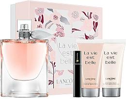 Düfte, Parfümerie und Kosmetik Lancome La Vie Est Belle - Duftset (Eau de Parfum 100ml + Körperlotion 50ml + Duschgel 50ml + Mascara 2ml)