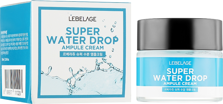 Extra feuchtigkeitsspendende Gesichtscreme - Lebelage Ampule Cream Super Water Drop