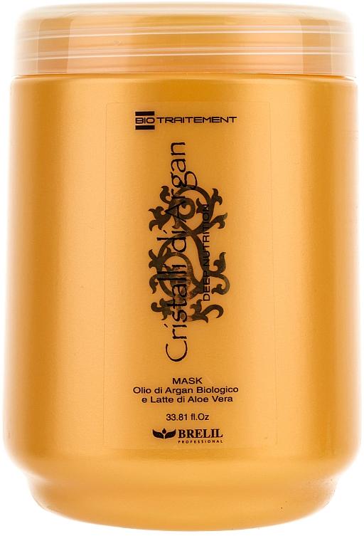 Tief pflegende Haarmaske mit Arganöl und Aloe Vera - Brelil Bio Traitement Cristalli d'Argan Mask Deep Nutrition