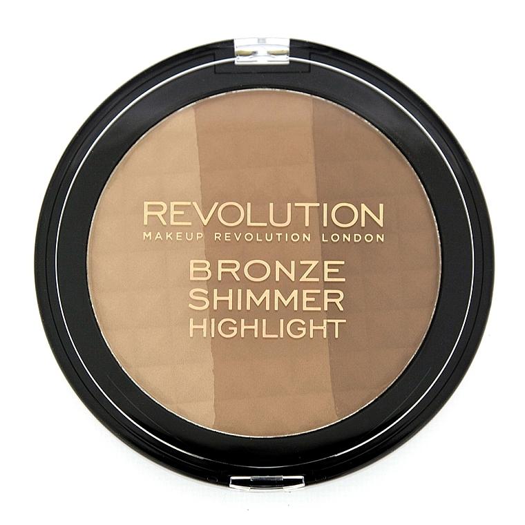Bronze-Schimmer und Highlighter - Makeup Revolution Ultra Bronze, Shimmer and Highlight