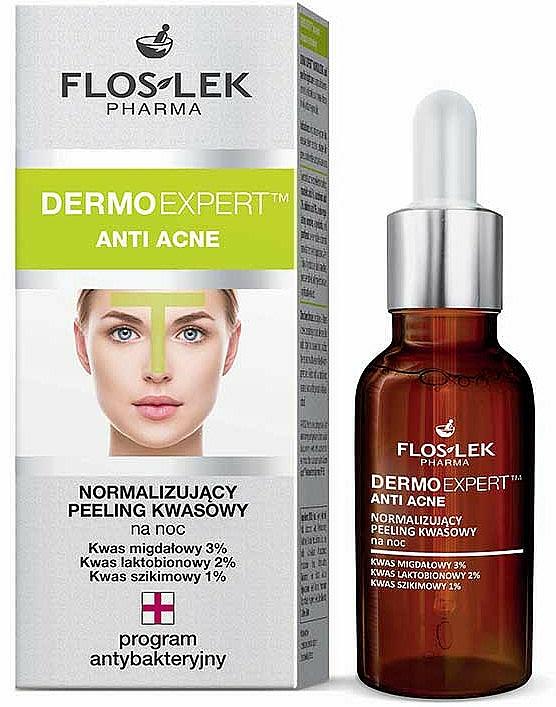 Anti-Akne Fruchtsäurepeeling für die Nacht - Floslek Dermo Expert Anti Acne Peeling