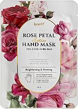 Düfte, Parfümerie und Kosmetik Aufhellende und straffende Maske in Handschuh-Form mit Rosenblütenextrakt - Petitfee&Koelf Rose Petal Satin Hand Mask