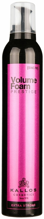 Professioneller Haarschaum Extra starker Halt - Kallos Cosmetics Prestige Extra Strong Hold Professional Volume