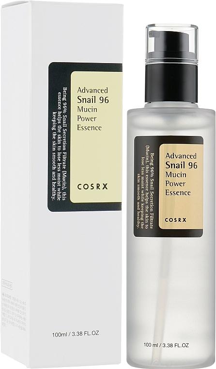 Feuchtigkeitsspendende Anti-Flaten Gesichtsessenz mit Schneckenschleim - Cosrx Advanced Snail 96 Mucin Power Essence