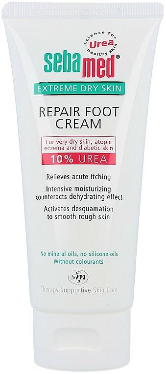 Intensive feuchtigkeitsspenende Fußcreme für sehr trockene Haut mit 10% Harnstoff - Sebamed Extreme Dry Skin Repair Foot Cream 10% Urea — Bild N1