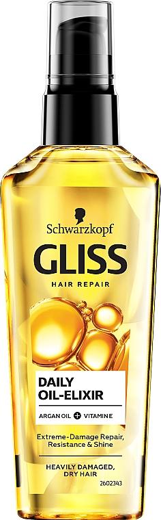 Tägliches Öl-Elixier für sehr geschädigtes und trockenes Haar - Schwarzkopf Gliss Kur Oil Nutritive Elixir