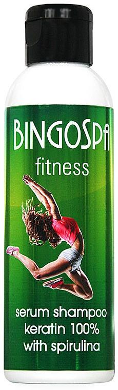 Regenerierendes und glättendes Serum-Shampoo mit Keratin - BingoSpa Serum Shampoo Keratin 100% With Spirulina Fitness
