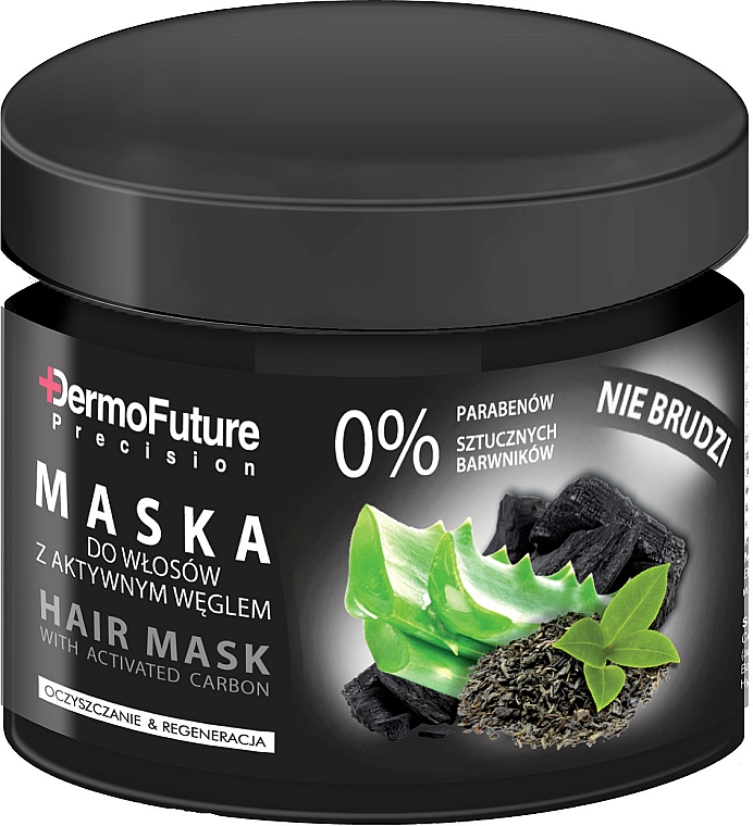 Pflegende und regenerierende Haarmaske mit Aktivkohle - DermoFuture Hair Mask With Activated Carbon
