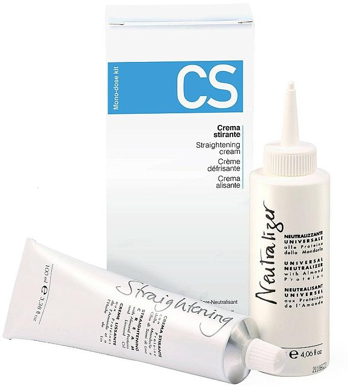 Professional Glättungs-Haarcreme Set - Fanola CS Straightening Kit (Haarcreme 100ml + stabilisierender Neutralizer 120ml)