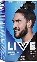Düfte, Parfümerie und Kosmetik Haarfarbe - Schwarzkopf Live Men Permanent Colour