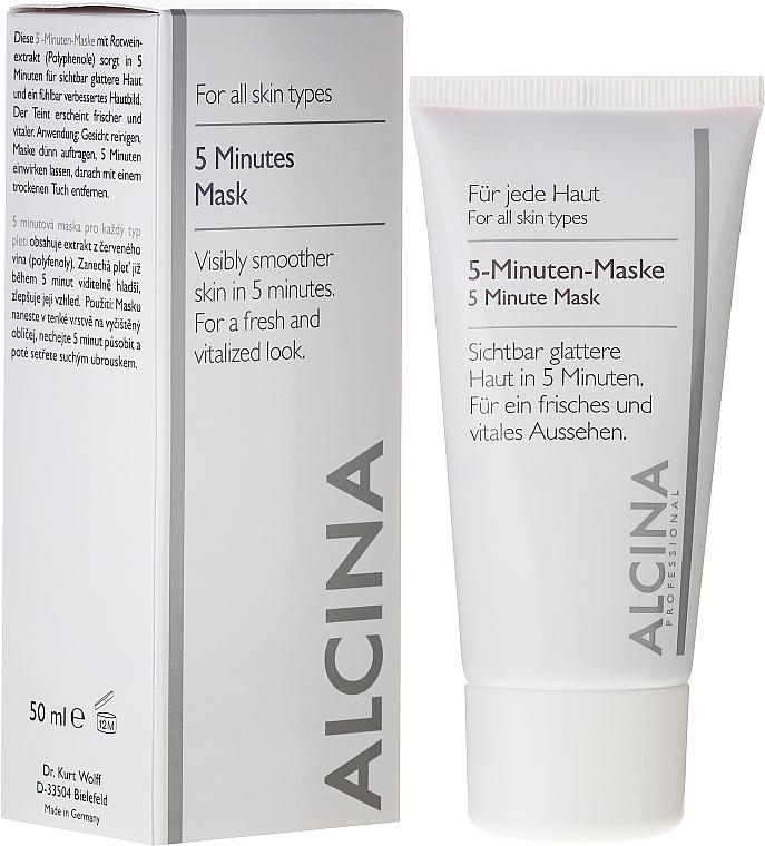 Gesichtsmaske für sichtbar glattere Haut in 5 Minuten - Alcina B 5 Minute Mask
