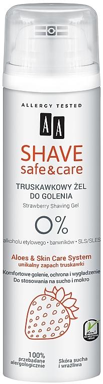 Rasiergel mit Erdbeerduft - AA Shave Safe & Care Strawberry Shaving Gel