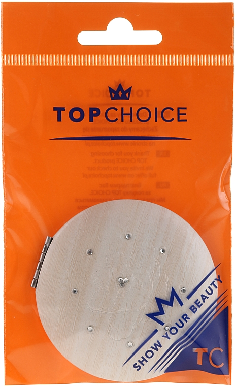 Kosmetischer Taschenspiegel 85666 beige - Top Choice