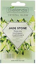 Feuchtigkeitsspendende und glättende Gesichtsmaske mit Jadeit und Olivenblattextrakt - Bielenda Crystal Glow Jade Stone Face Mask — Bild N1