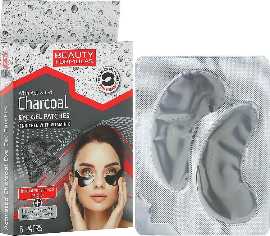 Augenpads mit Aktivkohle und Vitamin C - Beauty Formulas Charcoal Eye Gel Patches