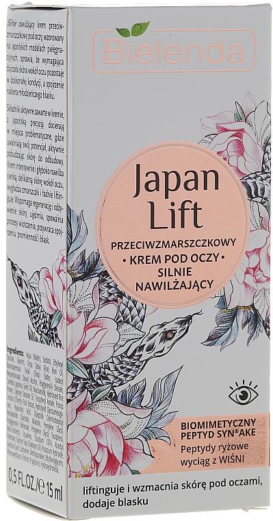 Stark feuchtigkeitsspendende Anti-Falten Augencreme - Bielenda Japan Lift Eye Cream