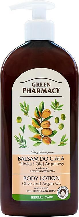 Körperlotion mit Argan- und Olivenöl - Green Pharmacy
