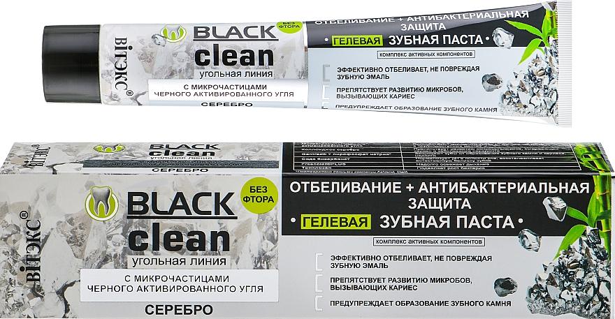 Aufhellende antibakterielle Zahnpasta mit schwarzer Aktivkohle - Vitex Black Clean