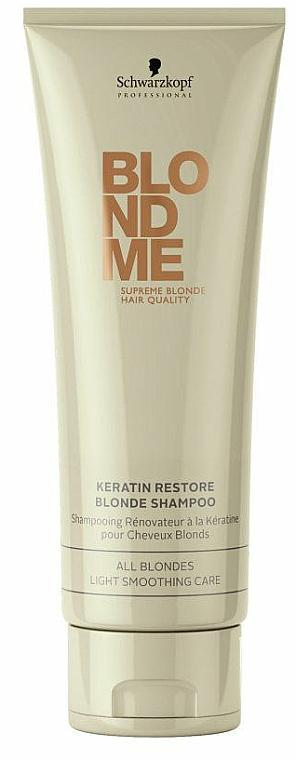 Pflegeshampoo mit Keratin für alle Blondtöne - Schwarzkopf Professional BlondMe Keratin Restore Blonde Shampoo