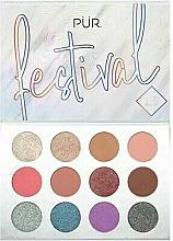 Düfte, Parfümerie und Kosmetik Make-up Palette - Pur Festival 2.0 12-Piece Pressed Pigments Palette