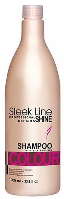 Shampoo für gefärbtes Haar mit Seidenprotein - Stapiz Sleek Line Colour Shampoo