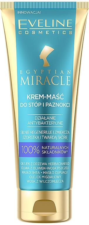 Intensiv regenerierende und aufweichende Fußcreme-Maske für raue Haut - Eveline Cosmetics Egyptian Miracle