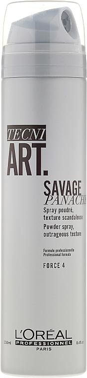 Texturierender Puderspray für mehr Volumen mit starkem Halt - L'Oreal Professionnel Tecni.art Savage Panache